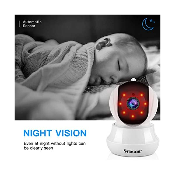 Sricam-SP020-Telecamera-di-Sorveglianza-WiFi-Interno-1080P-IP-Camera-Wireless-con-Visione-Notturna-a-Infrarossi-Audio-Bidirezionale-Sensore-di-Movimento-Compatibile-con-iOS-Android
