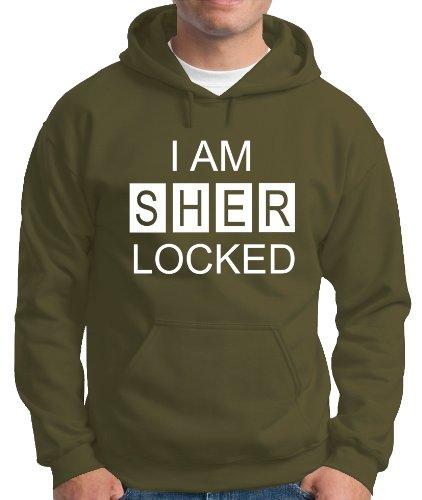 Touchlines Herren Kapuzen Pullover I AM SHER LOCKED Sweatshirt, Khaki, XXL, B230713KS Preisvergleich