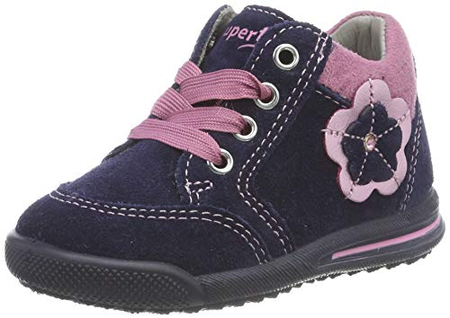 Superfit Baby Mädchen AVRILE MINI Sneaker, Blau 80), 21 EU