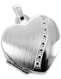 Herz Medaillon925 Silberzum öffnen für Bildereinlage/ 2 Foto