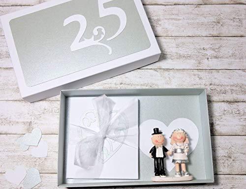 Geldgeschenk Geschenk Verpackung zur Silberhochzeit Silberne Hochzeit