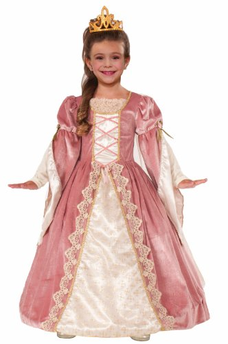 Victorian Kostüm Rose Kind - Forum Novelties Designer Collection Deluxe Victorian Rose Costume Dress, Child Large