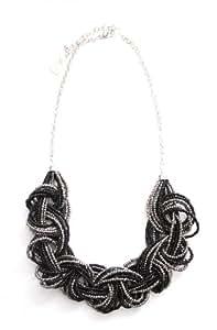 Marc Labat 13H46 - Gypsy - Collier Femme - Métal - Perle - Noir - 26 cm