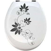 Aufkleber WC Toiletten Deckel St02 für Pressalit silbergrau/schwarz Vinyl