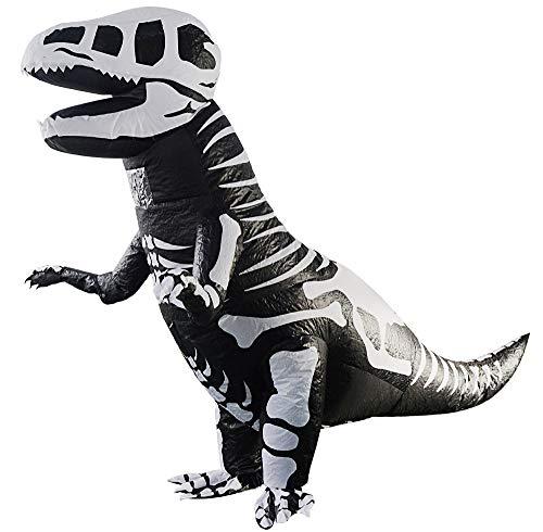 fblasbare Kostüm Rippe Tyrannosaurus Bühne Leistung Lustige Halloween Weihnachten Spiel Cosplay Geschenk,Kid(1.8m) ()