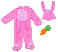 *Jumpsuit *Hat with attached bunny ears *Carrot rattle *Brand New In Manufacturer Packaging Awwww, how adorable! Your little Hunny Bunny will look so cute in this costume! New Born 0/6 month - Infant 6/12 month - Toddler 12/18 month