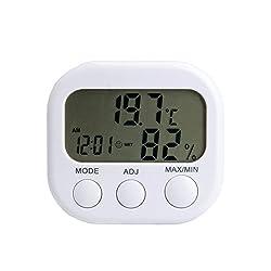 Yongse Thermo-Hygrometer mit Innentemperatur/Luftfeuchtigkeit Zeiger und Uhr (1 Stück)