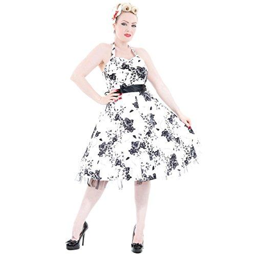 H&R London -  Vestito  - Floreale - Donna Bianco