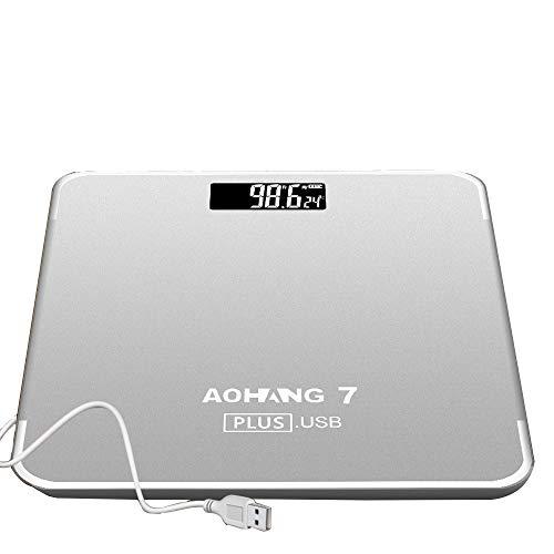 L-H-X Recargable Precisión doméstica Pequeña escala humana Pesaje electrónico Medidor de pérdida...