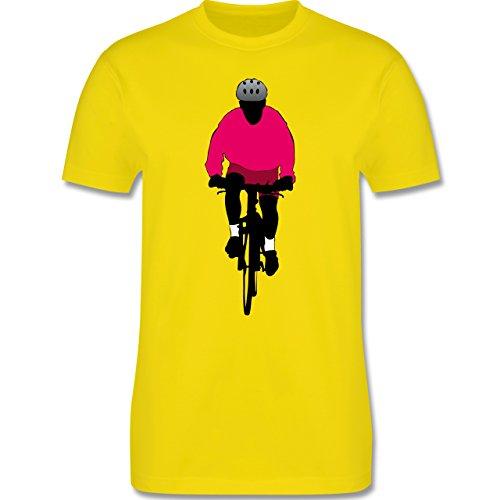Radsport - Mountainbike Fahrrad - Herren Premium T-Shirt Lemon Gelb