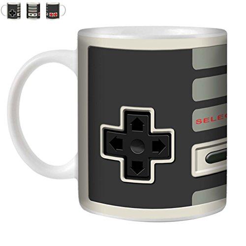 STUFF4 Tasse de Café/Thé 350ml/Nintendo/Console (jeux vidéo)/Céramique Blanche/ST10