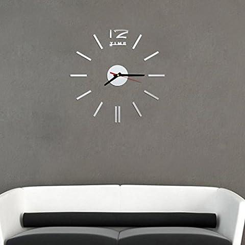 Wall Clock Clode® Orologio da Parete Mini Moderna Fai da Te Sticker 3D Home Design Ufficio Room Decor (Nero)