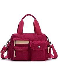 Bagtopia Women'S Light Casual Nylon Crossbody Shoulder Bag Water-Resistant Top-Handle Duffel Handbag - B01GE3I3LO