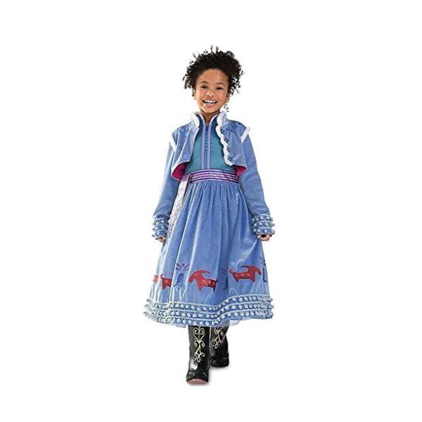 Principessa Girls Blu Snow Elsa Queen Costume Cosplay Operato dal Partito Ragazze Abito da Sposa con la Disposizione… 1 spesavip