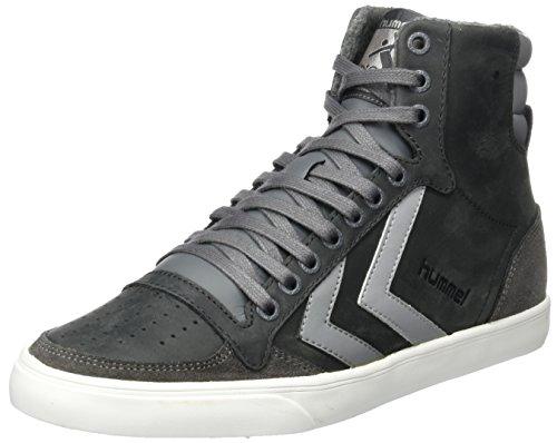 hummel Unisex-Erwachsene Slimmer Stadil Duo Oiled High Hohe Sneaker, Grau (Castle Rock), 43 EU