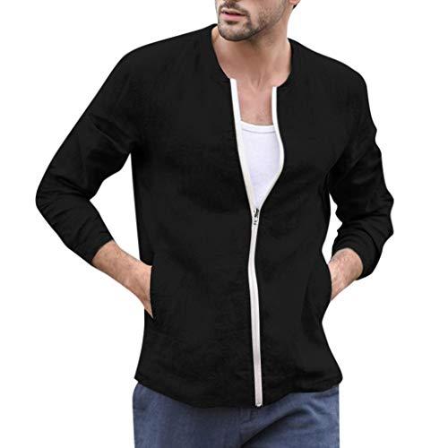 Herren Slim Fit Mantel Herbst Casual Einfarbig Dünner Mantel Zipper Jacke Top Bluse Outwear Langarm - Asian Boy Kostüm