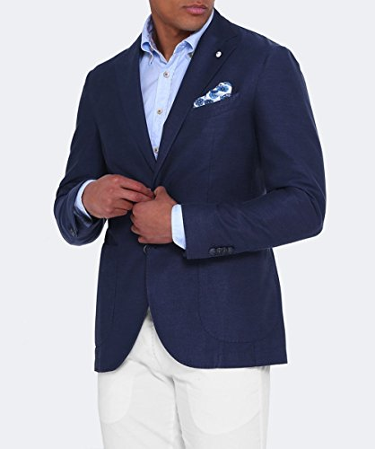 LBM 1911 Hommes veste de mélange lin & mohair Bleu Bleu