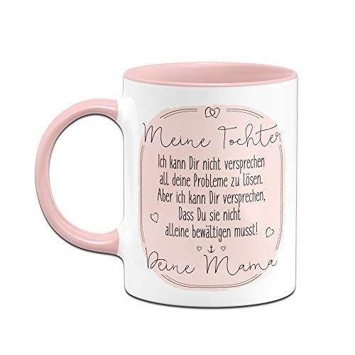 Tassenbrennerei Tasse mit Spruch für Tochter von Mama - Geschenke von Mutter für Tochter, Tassen mit Sprüchen (Rosa) - 2