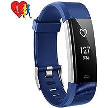 Pulsera Actividad Inteligente Mpow, 14 Modos de Ejercicio, Monitor de Ritmo Cardíaco Calorías Sueño, Fitness Tracker con GPS Seguimiento de Rutas, Alarmas, Notificación, Control de Cámara, Pulsera Inteligente