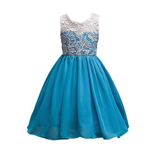 Baby Mädchen Kleidung Set JYJM Mädchen Sommer Mode Mädchen Rock BluseMädchen Prinzessin Kleid Kleid Kleid Party Abendkleid Tanzkleidung Rock Kleider Jumpsuit Outfit (Größe: 7 Jahre, Blau) (Rock Skort Outfit)