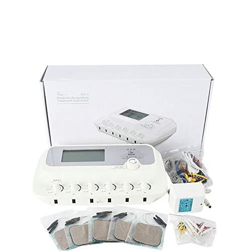 LYHD Electroestimulador TENS EMS Estimulador Muscular Masajeador Electro 6 Canales Digital Acupuntura...