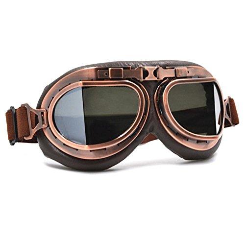 KEIBODETRD Motorradbrille Retro-Nostalgie-Stil Outdoor-Sportbrillen Skibrillen Maske