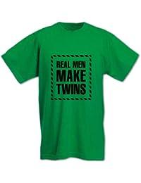 Homme T-Shirt Cadeau Fête Des Pères Les Vrais Hommes Font Des Jumeaux