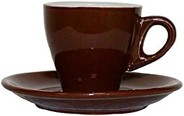 Borella Casalinghi Mokkacino Set Tazze da Caffè senza Piatto, Ceramica, Marrone, 12 Unità