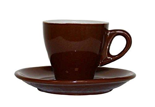 Borella casalighi mokkacino Tassen Set Kaffee ohne Teller, Keramik, Braun, 12Einheiten
