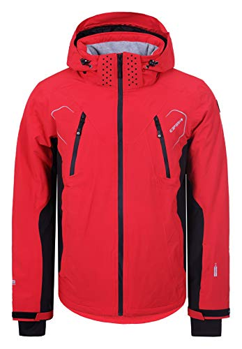 Icepeak Herren Skijacke Nemo (rot - schwarz) Outdoor Funktionsjacke, Gr. 52 - Ski Jacke Rot Herren