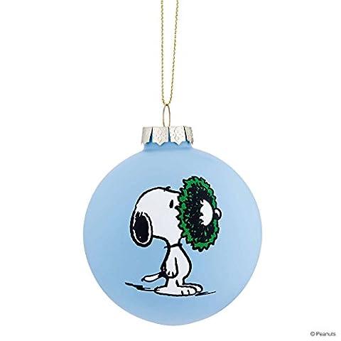 BUTLERS PEANUTS Glaskugel Snoopy/Kranz- Christbaumkugel - 8 cm (Snoopy Charlie Brown Christmas)