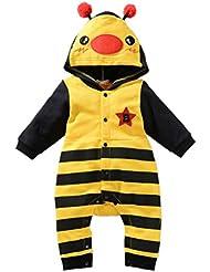 Biwinky Mono Pijama Traje con Capucha Disfraz Animal Bebé