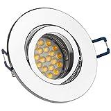 LEDANDO LED Einbaustrahler Set für Spanndecken Chrom 5W DIMMBAR LED GU10 Deckenstrahler - Spots - Deckenspots - Deckspot