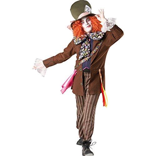erren-Kostüm, Verrückter Hutmacher, Gr. XL (Verrückter Hutmacher Herren Kostüme)