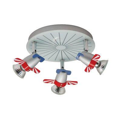 Naeve Leuchten Kinderwandleuchte Flugzeug / durchmesser: 20 cm, a: 15 cm / Metall / bunt 116961 von Naeve Leuchten GmbH - Lampenhans.de