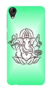 HTC Desire 728 Black Hard Printed Case Cover by Hachi - Lord Ganesha Design