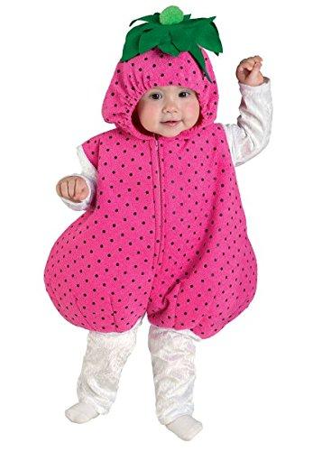Babykostüm Erdbeere, Kleinkinderkostüm Erdbeere, pink, Größe:74