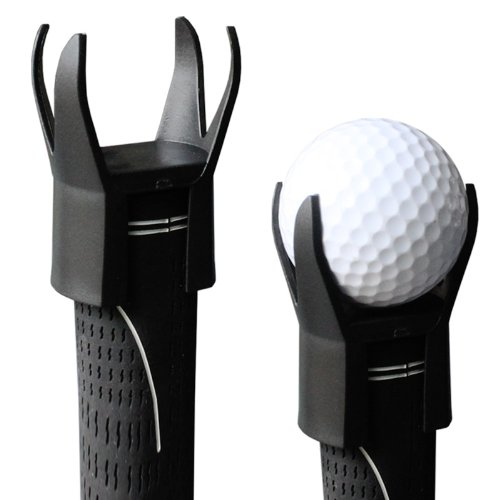 Andux Ballrückholer-Aufsatz für Golfschläger schwarz 4 gabels QJ-2
