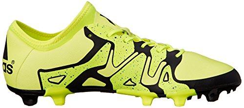 Adidas Performance X 15.2 Firm / künstlichen Boden Fu�ball Klampe, schwarz / Schock Mint / wei�, Solar Yellow/Core Black/Solar Yellow