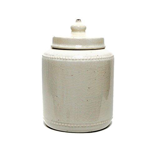 lizabeth Topf mit Deckel Vintage inspiriert Keramik Vase Home Dekoration 24,5cm hoch (weiß) ()