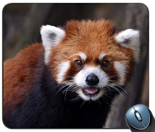 Yanteng Alfombrilla de ráton de Juegos de Costura de precisión, Patrón de Panda Rojo Rectángulo Personalizado Alfombrilla de ratón Antideslizante Alfombrilla de ratón para Juegos