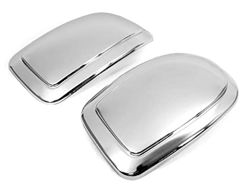 Set Of Weather Proof Triple Chrome Side Door Mirror Cover Trim New