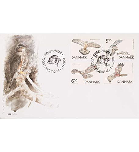 Goldhahn Dänemark Nr. 1383-1386 Ersttagsbrief Greifvögel Briefmarken für Sammler -