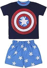 CERDÁ LIFE'S LITTLE MOMENTS Niños Pijama del Capitán América Color Azul-Licencia Oficial Ma