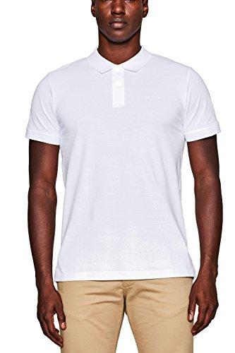 ESPRIT Herren Poloshirt 998EE2K808, Weiß (White 100), Large