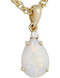 Anhänger mit Opal Tropfen & Diamant Brillant 585 Gold Gelbgold Damen