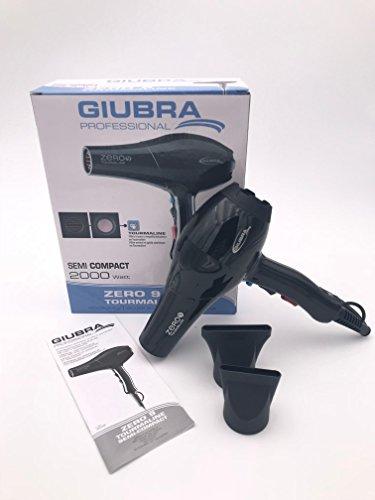 Giubra Professional secador pelo Zero 9Tourmaline | Potencia 2000W), Black