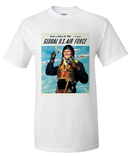 global-us-air-force-vintage-poster-artist-norman-rockwell-usa-c-1952-premium-t-shirt