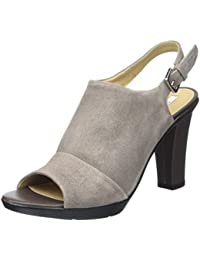 Womens D Jadalis C Wedge Heels Sandals, Taupe Geox