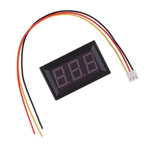 D DOLITY Voltímetro Digital Medidor de Potencia Corriente Voltaje Inteligente, DC 0-100 V - azul